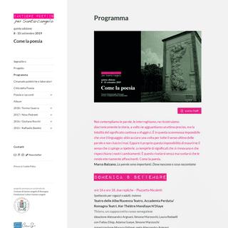 Programma - Cantiere poetico per Santarcangelo - 8 - 15settembre 2019