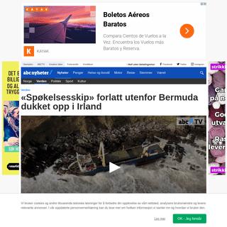 ArchiveBay.com - www.abcnyheter.no/nyheter/verden/2020/02/17/195650014/spokelsesskip-forlatt-utenfor-bermuda-dukket-opp-i-irland - «Spøkelsesskip» forlatt utenfor Bermuda dukket opp i Irland - ABC Nyheter