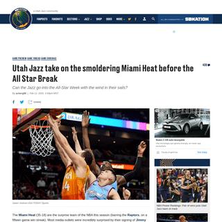ArchiveBay.com - www.slcdunk.com/2020/2/12/21134200/utah-jazz-miami-heat-jimmy-butler-rudy-gobert-donovan-mitchell - Utah Jazz take on the smoldering Miami Heat before the All Star Break - SLC Dunk