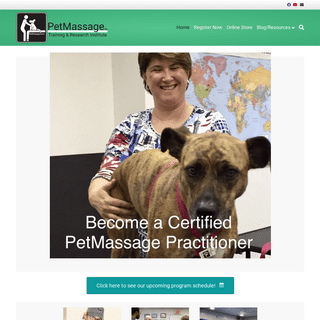 Home · PetMassage™ Training and Research Institute