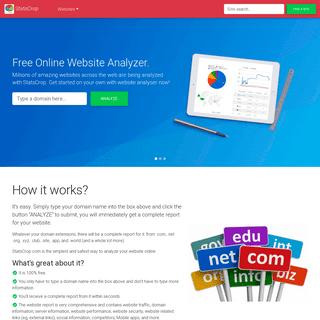 Free Online Website Analyzer - Traffic, SEO, Security and Performance - StatsCrop