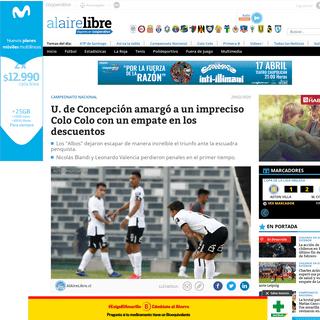 U. de Concepción amargó a un impreciso Colo Colo con un empate en los descuentos - AlAireLibre.cl