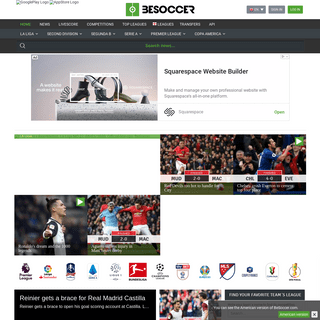 BeSoccer- Daily football news from all over the world