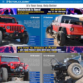 Metalcloak - Jeep Suspension - Jeep Fenders - Jeep Bumpers - Jeep Parts & Accessories