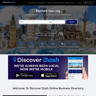 Discover Dash – Explore Dash Merchants & Events Near You!