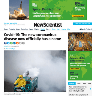 ArchiveBay.com - www.newscientist.com/article/2233218-covid-19-the-new-coronavirus-disease-now-officially-has-a-name/ - Covid-19- The new coronavirus disease now officially has a name - New Scientist
