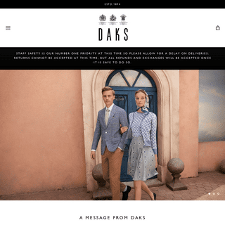 Daks.com - Luxury fashion for Men and Women since 1894 – DAKS