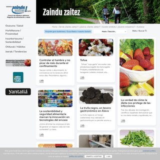 Zaindu Zaitez - Osasun eta elikadura aldizkaria - Magazine de alimentación y salud