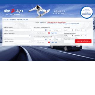 Ski Transfers With Alps2Alps