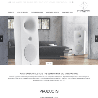German High-End manufacture for Hornloudspeakers and Amplifiers - Avantgarde Acoustic Hornloudspeaker