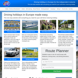 Self-drive holidays France Europe Ireland. Driving holidays in Italy and Spain. Motoring holidays in Belgium Germany Austria and