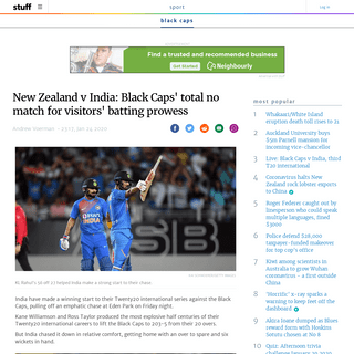 New Zealand v India- Black Caps' total no match for visitors' batting prowess - Stuff.co.nz