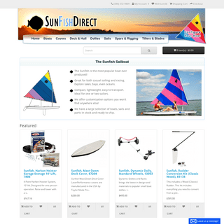 Worldwide supplier of Sunfish boats, parts, & accessories