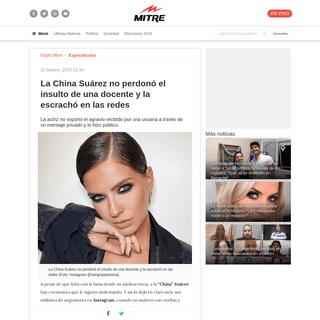 La China Suárez no perdonó el insulto de una docente y la escrachó en las redes - Radio Mitre