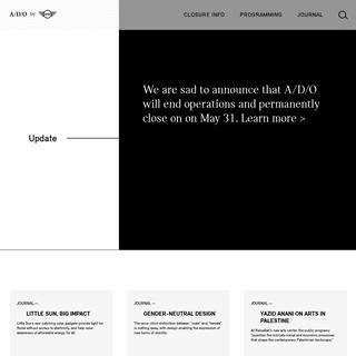 A-D-O by MINI - Homepage