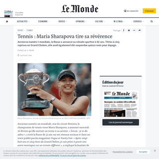 ArchiveBay.com - www.lemonde.fr/sport/article/2020/02/26/tennis-maria-sharapova-tire-sa-reverence_6030935_3242.html - Tennis- Maria Sharapova tire sa révérence