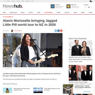 Alanis Morissette bringing Jagged Little Pill world tour to NZ in 2020 - Newshub