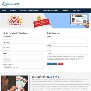 Aadhar PVC Card - Online PVC - Plastic Aadhar
