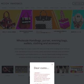 Wholesale Handbags, Purses, Fashion Handbags - Mezon Handbags