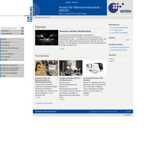 Highlight — Institut für Mikrosystemtechnik - IMTEK