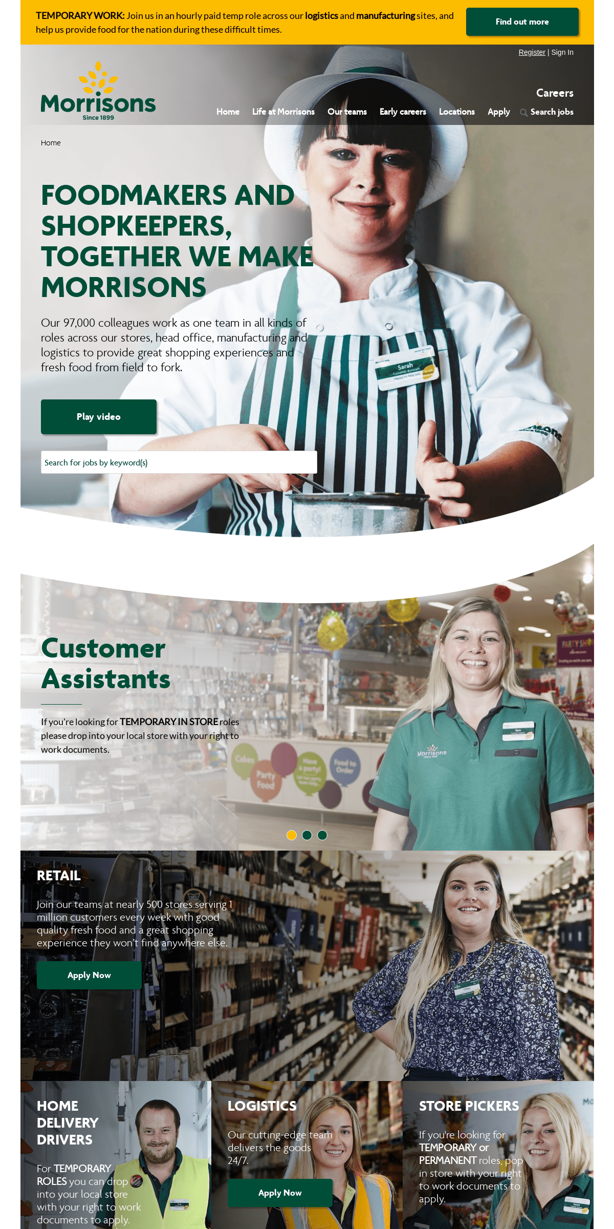 Welcome to Morrisons Careers - Morrisons Careers