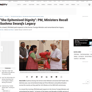 ArchiveBay.com - www.ndtv.com/india-news/sushma-swaraj-68th-birth-anniversary-pm-modi-ministers-recall-sushma-swaraj-legacy-2180173 - Sushma Swaraj 68th Birth Anniversary- PM Modi, Ministers Recall Sushma Swaraj Legacy