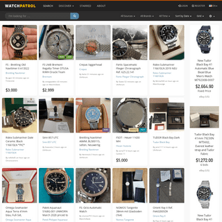 WatchPatrol - Enthusiast Powered Watch Search