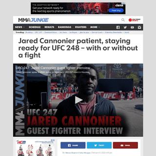 UFC 248- Jared Cannonier stays patient despite Darren Till uncertainty