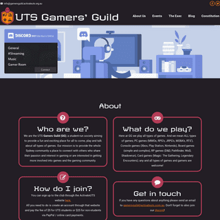 Home - Gamers' Guild @ UTS