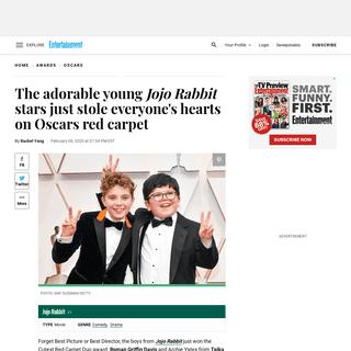 Oscars 2020- Jojo Rabbit stars stole everyone's hearts on the red carpet - EW.com - EW.com