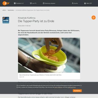 Kriselnde Kultfirma Tupperware- Die Tupper-Party ist zu Ende - ZDFheute