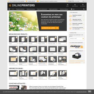 Imprimerie en ligne - impression pas cher chezOnlineprinters