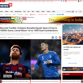 ArchiveBay.com - www.news18.com/news/football/records-tumble-cristiano-ronaldo-equals-serie-a-feat-in-1000th-game-lionel-messi-1st-to-1000-goal-contributions-2511759.html - Records Tumble- Cristiano Ronaldo Equals Serie A Feat in 1000th Game, Lionel Messi 1st to 1000 Goal Contributions - News18
