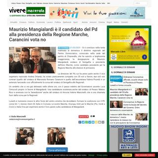 Maurizio Mangialardi è il candidato del Pd alla presidenza della Regione Marche, Carancini vota no
