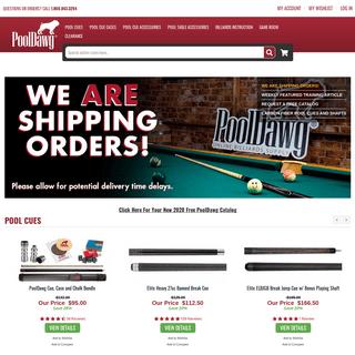 Pool Cues and Billiard Supplies at PoolDawg.com