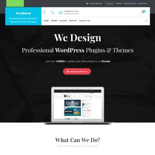 ProWord – Professional WordPress & Woocommerce Plugins