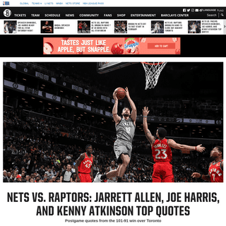 ArchiveBay.com - www.nba.com/nets/news/quotes/2020/02/12/nets-vs-raptors-jarrett-allen-joe-harris-and-kenny-atkinson-top-quotes - Nets vs. Raptors- Jarrett Allen, Joe Harris, and Kenny Atkinson Top Quotes - Brooklyn Nets