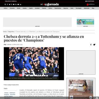 Chelsea derrota 2-1 a Tottenham y se afianza en puestos de 'Champions' - Deportes - La Jornada
