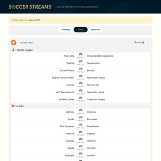 Soccer Streams- Official reddit soccer streams