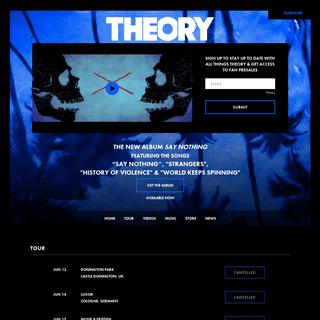 Theory Official Website- Music, Videos, Photos, Lyrics, Tour Dates