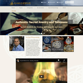 Ka Gold Jewelry - Authentic Sacred Geometry Jewelry and Talismans