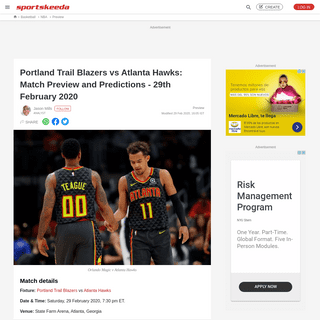 ArchiveBay.com - www.sportskeeda.com/basketball/portland-trail-blazers-vs-atlanta-hawks-match-preview-and-predictions-29th-february-2020 - Portland Trail Blazers vs Atlanta Hawks- Match Preview and Predictions - 29th February 2020