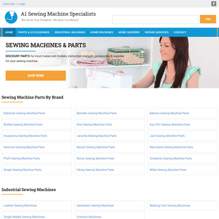 Sewing Machine Parts for Home and Industrial Sewing Machines - A1 Sewing Machine Specialists