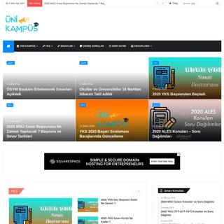 Ana Sayfa - Üni Kampüs - Eğitim Haberleri 2020 Üniversite Taban Puanları