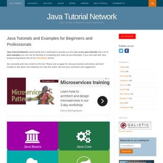 Java Tutorial Network - Java Tutorials for Beginners and Professionals