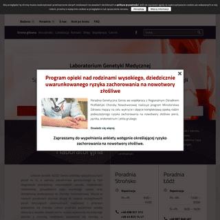 Badania genetyczne, poradnia genetyczna, testy genetyczne, kariotyp, BRCA 1 - NZOZ GENOS