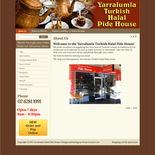 Welcome - Yarralumla Halal Pide House