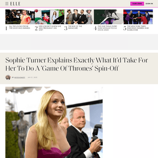 Would Sophie Turner Play Sansa Stark in a Game of Thrones Spin-Off-