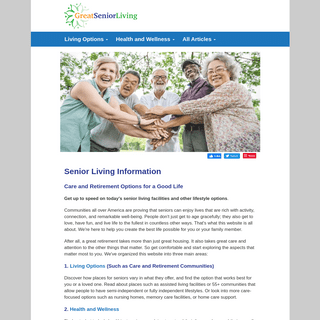 Senior Living Information - Guide to Care & Retirement Options