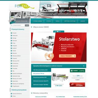 FOREKO.eu - maszyny stolarskie, maszyny do drewna, szlifierki, frezarki, maszyny do obróbki drewna - Strona główna